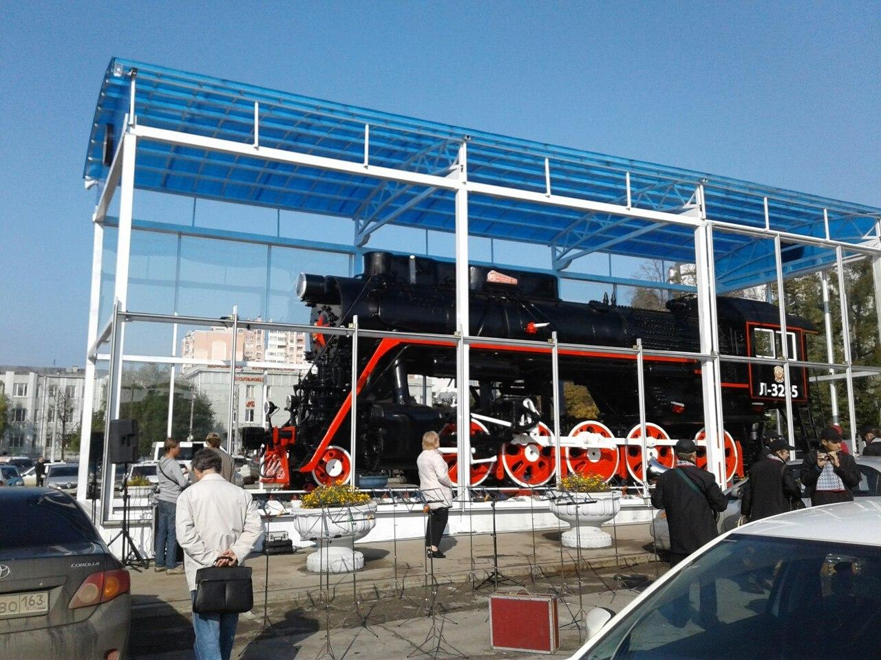 В Самаре торжественно открыли памятник паровозу «Лебедянка»