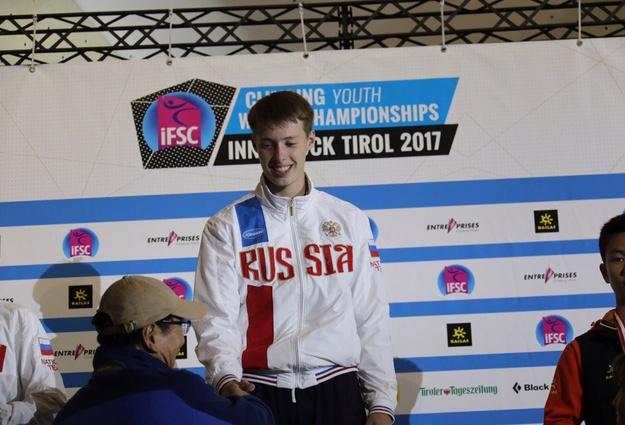 Тюменский спортсмен завоевал «золото» на первенстве мира по скалолазанию