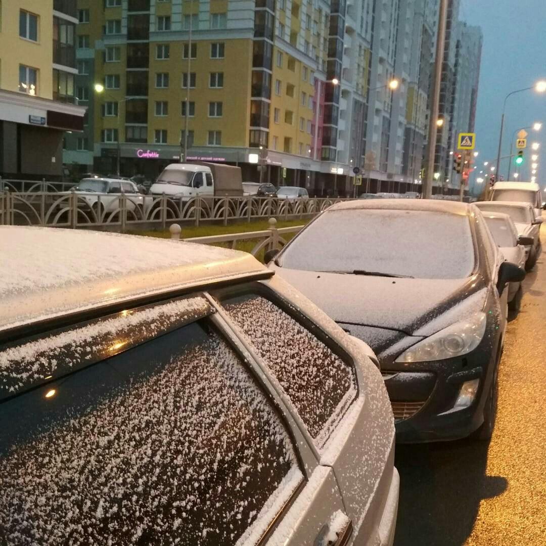Первый снег выпал в Екатеринбурге