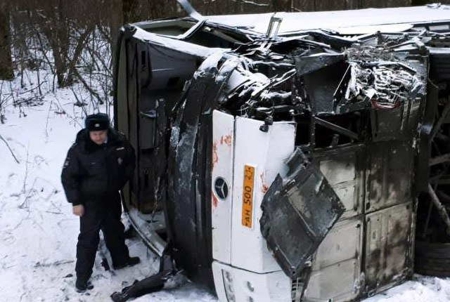 В ДТП с пассажирским автобусом в Нижегородской области погибли два человека