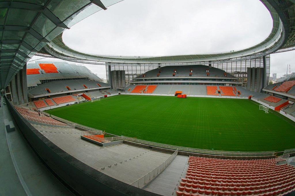 Первые футбольные матчи на стадионе «Екатеринбург Арена» пройдут в начале апреля