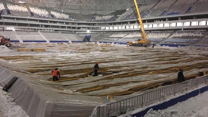 Строительство стадиона к ЧМ-2018 в Самаре завершится в начале апреля