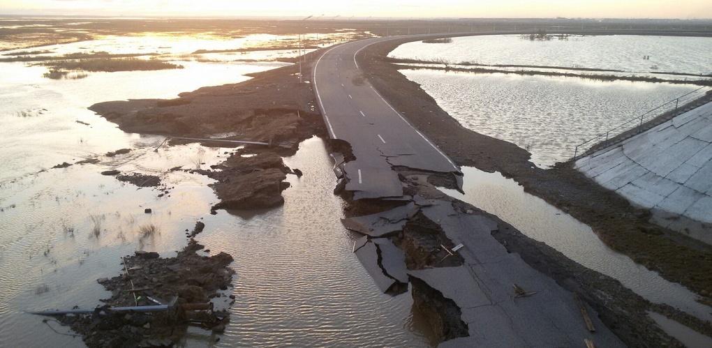 В Саратовской области из-за паводка перекрыт участок трассы «Нижний Новгород — Саратов»
