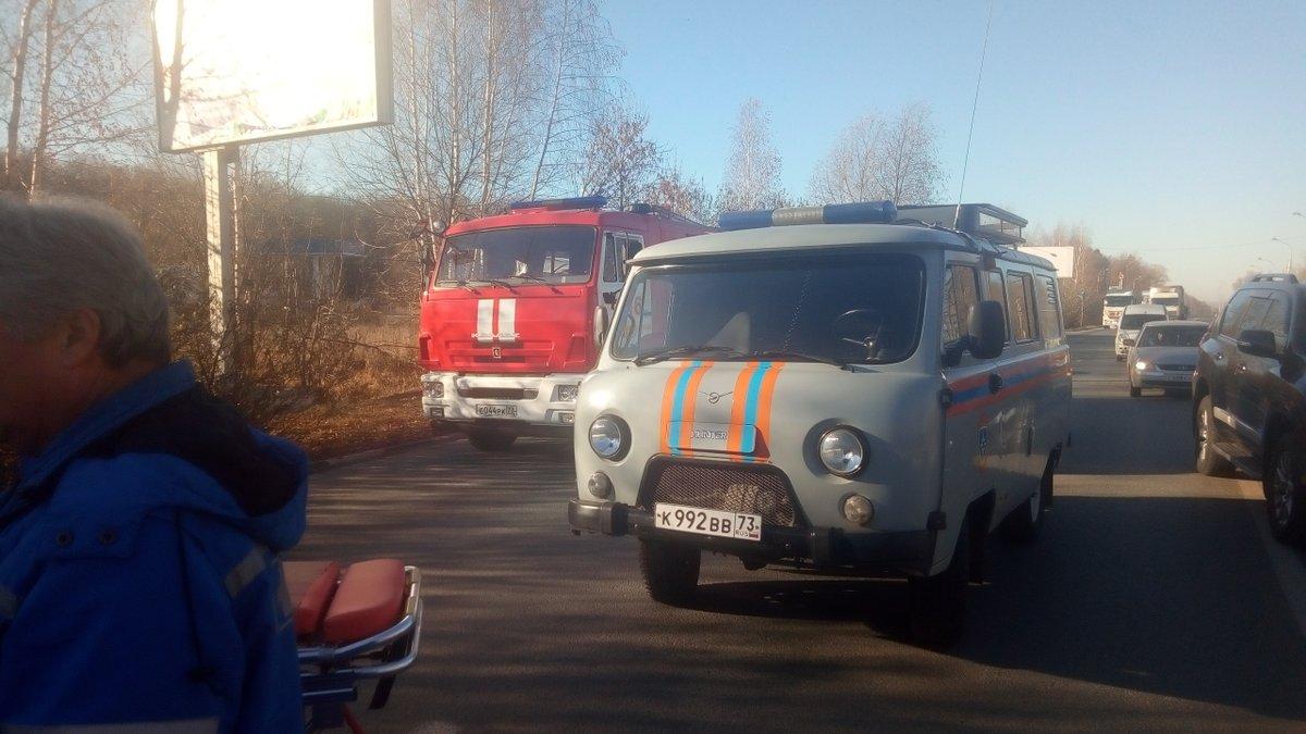 Маршрутка столкнулась с грузовиком в Ульяновске, пострадали семь человек