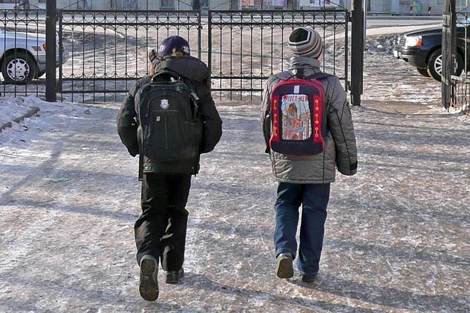 Школьные занятия отменяются из-за морозов у младшеклассников Саратова