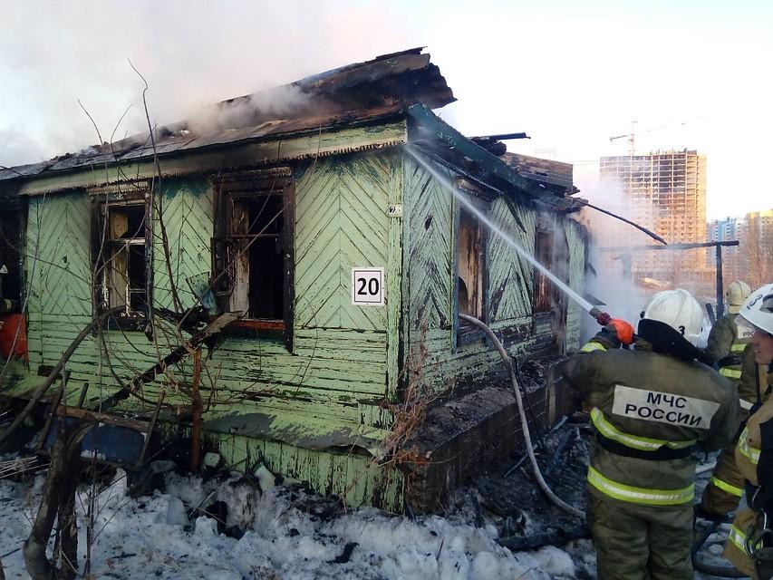 Три человека погибли при пожаре в частном доме в Самаре