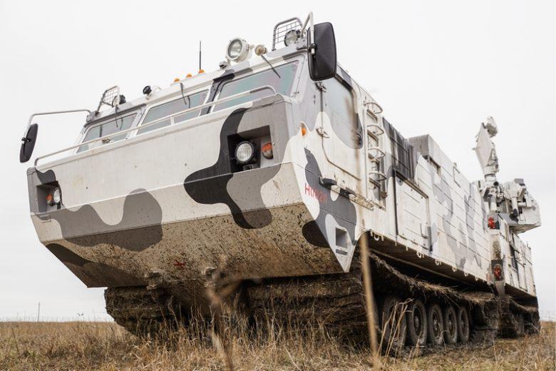 YEISK, KRASNODAR TERRITORY, RUSSIA – FEBRUARY 7, 2019: A training exercise by a Russian Northern Fleet unit involving Tor-M2DT Arctic short-range anti-aircraft missile systems. Olga Smolskaya/TASS  Ðîññèÿ. Åéñê. Àðêòè÷åñêèé çåíèòíûé ðàêåòíûé êîìïëåêñ