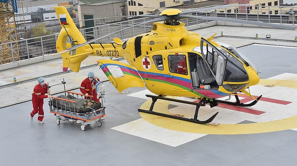 Первая вертолетная площадка на территории больницы построена в Уфе